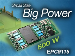 500 Watt Eighth Brick DC-DC Converter Achieves 96.7% Efficiency – EPC Demonstration Board Featuring eGaN FETs Delivers Fully Regulated, Isolated Output 12 V, 42 A Output
