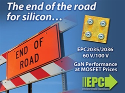 Efficient Power Conversion (EPC) Launches New eGaN Power Transistors That Break Silicon's Previously Unmatched Cost-Speed Barriers