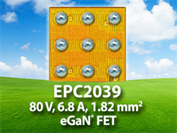 Efficient Power Conversion (EPC) Launches New eGaN FET Enabling Big Power in a Small Footprint at a low Price for Wireless Power Transfer and Other High Frequency Applications