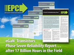 Efficient Power Conversion (EPC) Publishes Reliability Report Documenting Over 17 Billion Field-Device Hours with Very Low Failure Rate