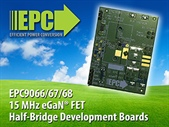 15 MHz Half-Bridge Development Boards Use EPC's eGaN FETs and High Frequency Synchronous Bootstrap Topology