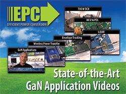 Where is GaN Going? EPC Releases Six Videos Featuring GaN Technology in Game-Changing Industrial and Consumer Applications