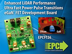 EPC Development Board Shows the Ultra Fast Transition Capability of eGaN FETs over MOSFETs Giving Superior LiDAR System Performance When Used in Autonomous Vehicles