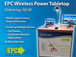 Efficient Power Conversion (EPC) to Present GaN-based Large Surface Area Wireless Power Solution at the 2017 Wireless Power Summit