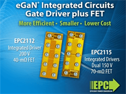 EPC Introduces Two eGaN ICs Combining Gate Drivers with High Frequency GaN FETs for Improved Efficiency, Reduced Size and Lower Cost