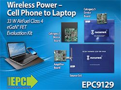 Simultaneously Power (or Charge) Cell Phones to Laptops Wirelessly with EPC's Complete Class 4 Transmitter Paired with A Regulated Category 5 AirFuel Alliance Compatible Wireless Power Demo Kit
