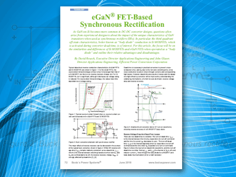 eGaN FET-Based Synchronous Rectification