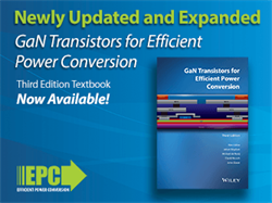EPC Launches 3rd Edition of Gallium Nitride (GaN) Textbook with Power Conversion Applications Focus