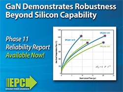 Testing Gallium Nitride Devices to Failure Demonstrates Robustness Unmatched by Silicon Power MOSFETs - Efficient Power Conversion Publishes 11th Reliability Report