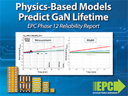 EPC Releases Physics-Based Models That Project eGaN Device Lifetime in New Reliability Report
