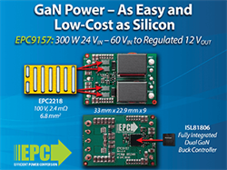 GaN is as Easy to Use as Silicon: EPC Introduces a 48 V to 12 V Demo Board Featuring EPC eGaN FETs and New Renesas DC-DC Controller
