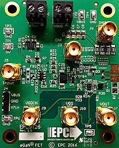 eGaN power FET capable of 75A pulses with a total pulse-width of 5 ns (10% of peak)