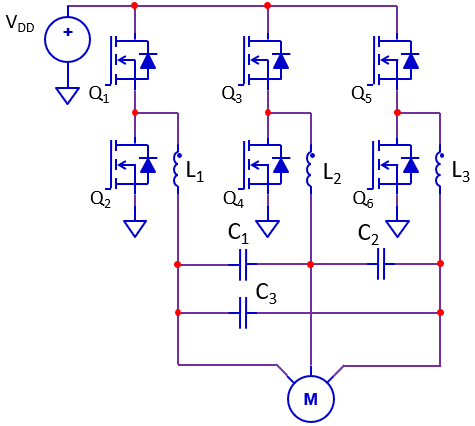 Typical 3-phase Motor drive with filter