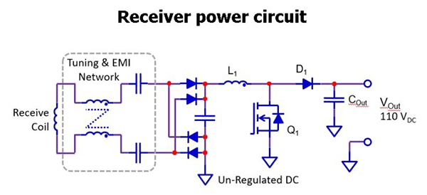 receiver power circuit