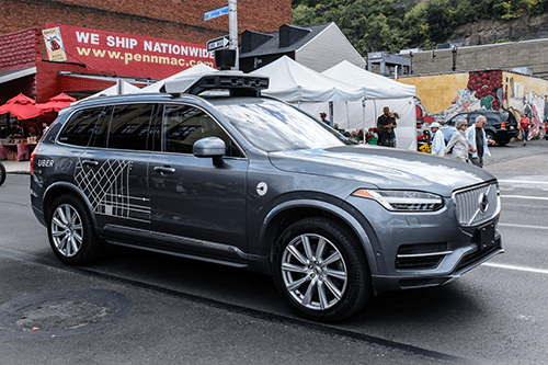 Self-driving car with LiDAR