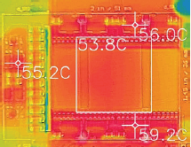 Thermal image of the LLC converter
