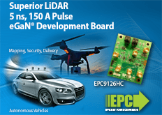 EPC9126 High Current Pulsed Laser Diode Driver Demo Board