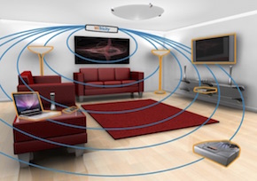 Wireless power transmission in a home environment
