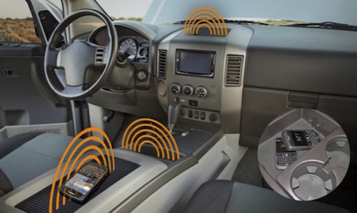 Wireless power transmission in a vehicle