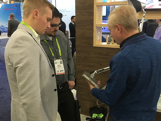 The EPC team was on hand to answer CES attendees questions related to GaN and wireless power.
