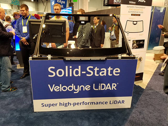Velodyne Displayed Solid State, High Performing LiDAR featuring eGaN technology