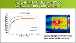 How to GaN 11 – Applications: DC-DC for Ultra-Thin 48 V – 20 V Converters